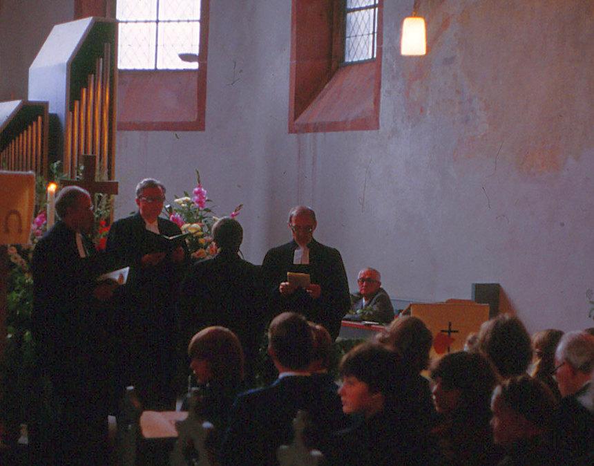 Ordination von Pfarrer Helmut Schütz durch Propst Helmut Grün