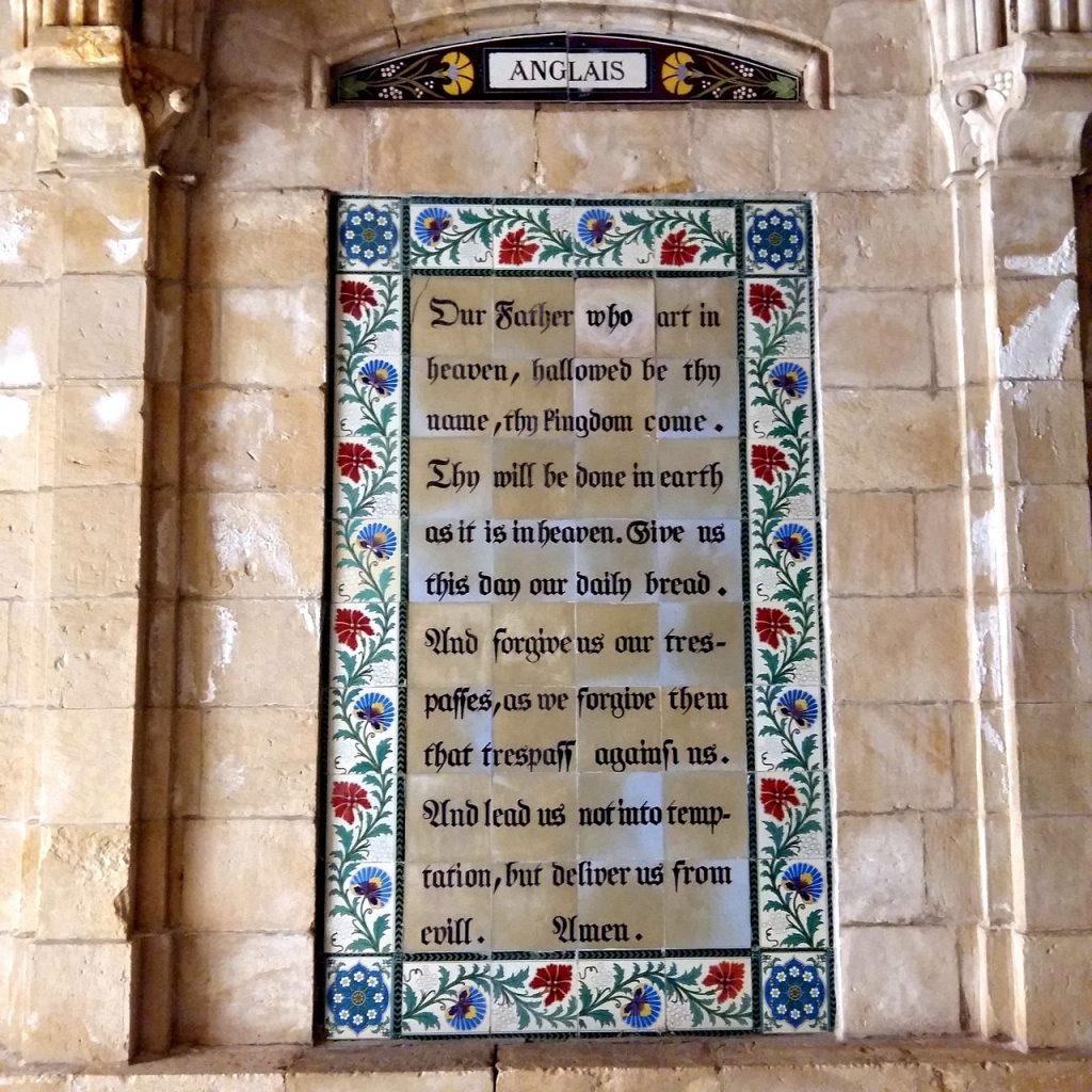 Das englische Vaterunser an der Paternoster-Kirche in Jerusalem