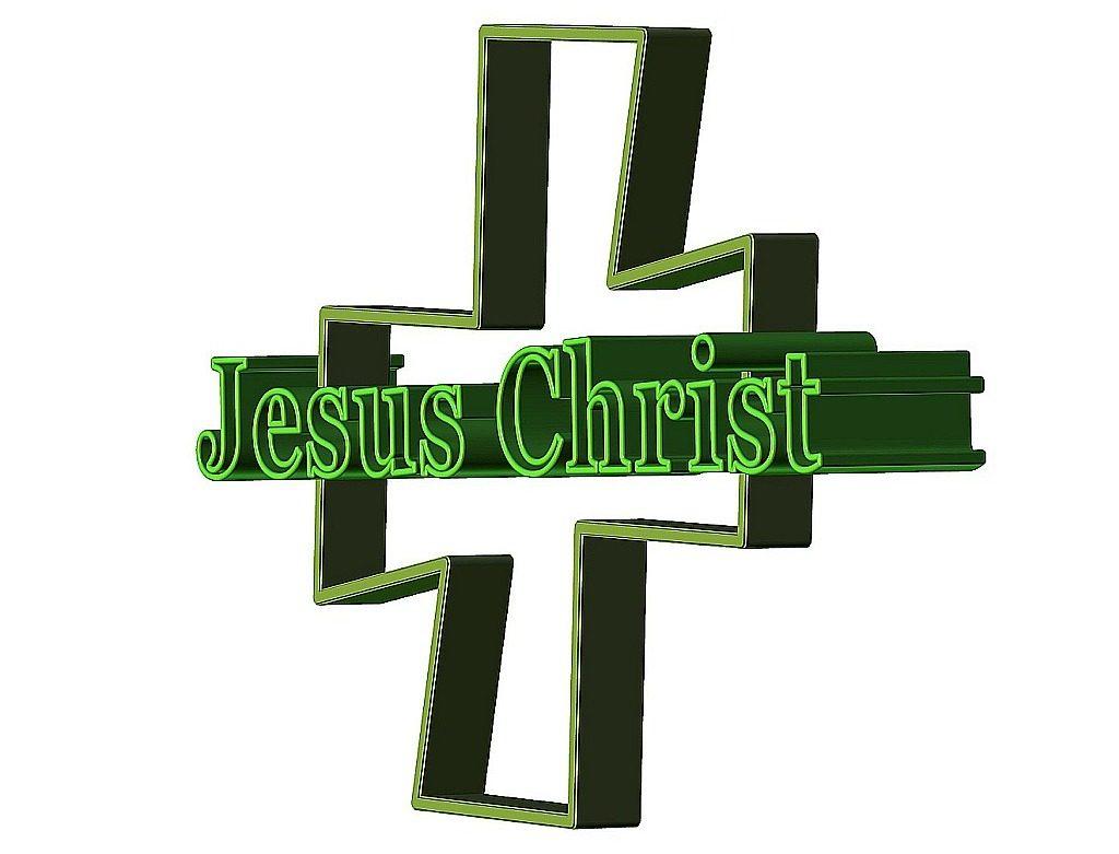"""Auferstehen mit Jesus: Ein Kreuz mit dem Schriftzug """"Jesus Christ"""""""