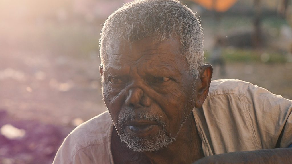 Ein leprakranker Mann aus Indien