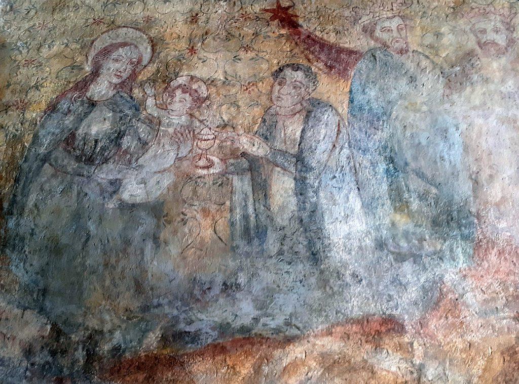 Wandmalerei der Heiligen Drei Könige in der Reichelsheimer Kirche