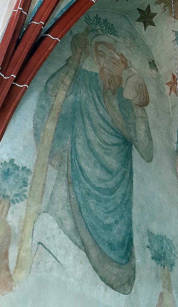 Wandmalerei des Heiligen Christophorus in der evangelischen Kirche zu Reichelsheim in der Wetterau