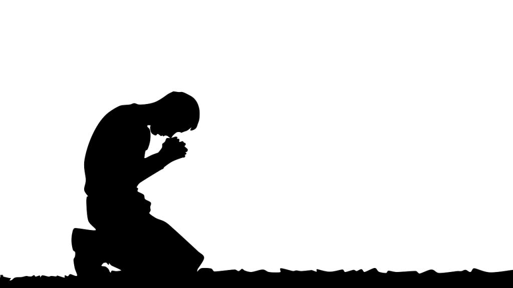 Gebet in gebeugter Haltung