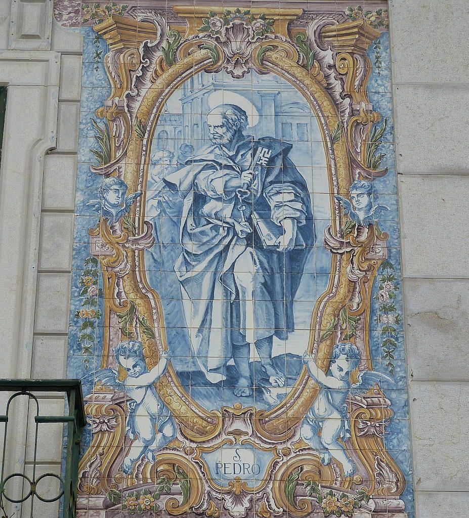 Der Apostel Petrus in einer Darstellung aus Portugal
