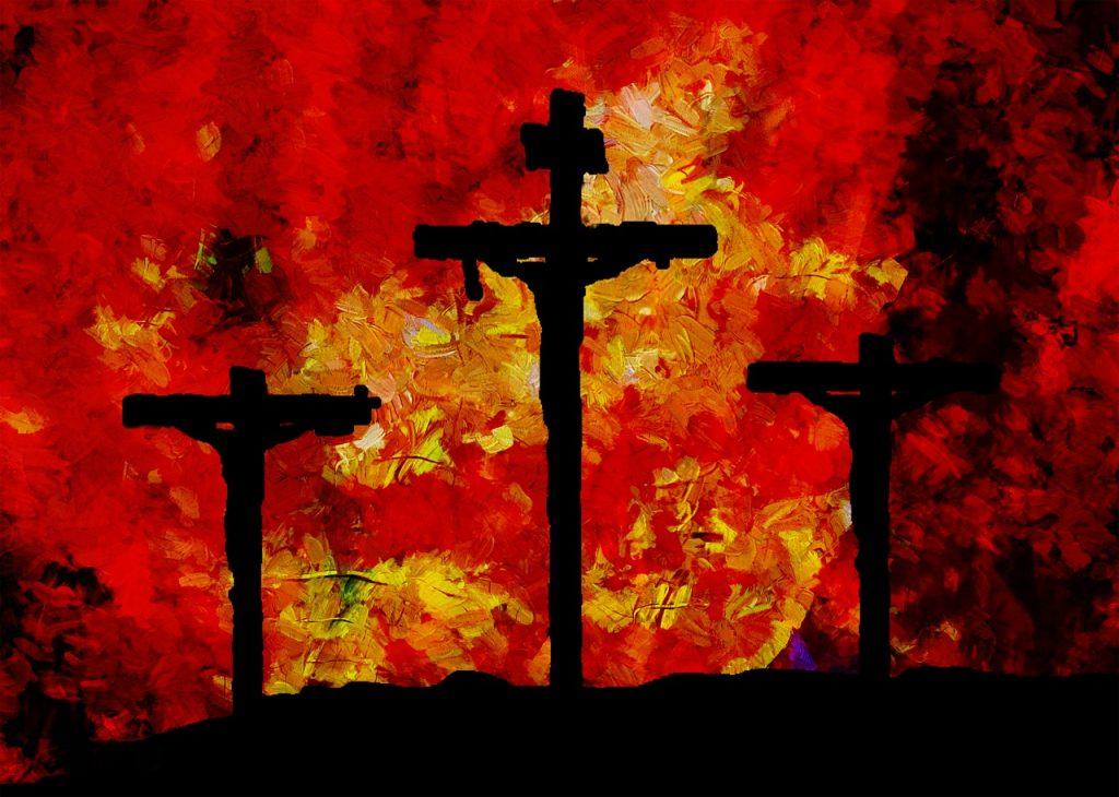 Drei Kreuze auf Golgatha