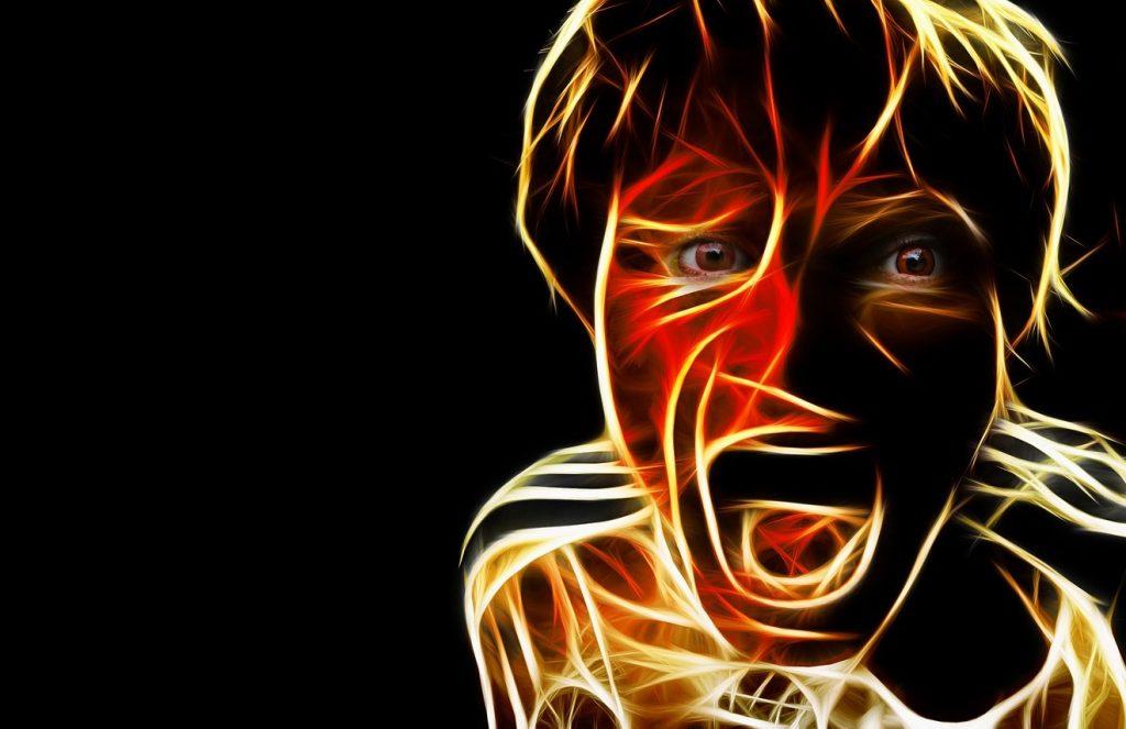 Es soll nicht gelogen werden: Ein Mensch schreit im Dunkeln