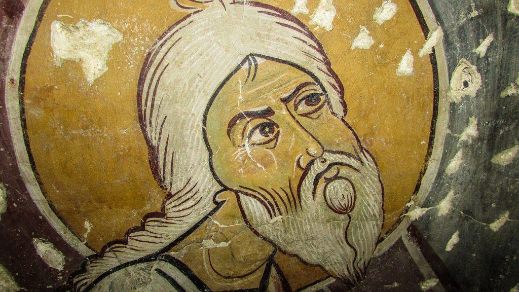 Ob diese Ikone wirklich Abraham darstellt, weiß ich nicht, vielleicht ist es auch Antonius