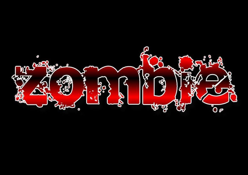 """Schriftzug """"zombie"""""""