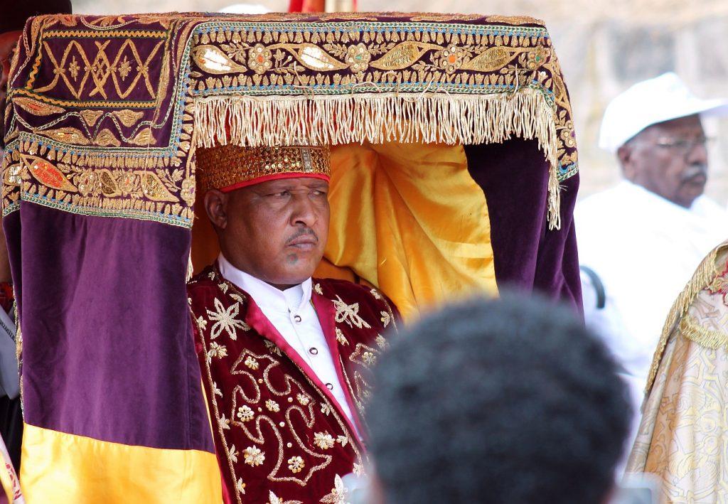Ein orthodoxer Priester in Äthiopien