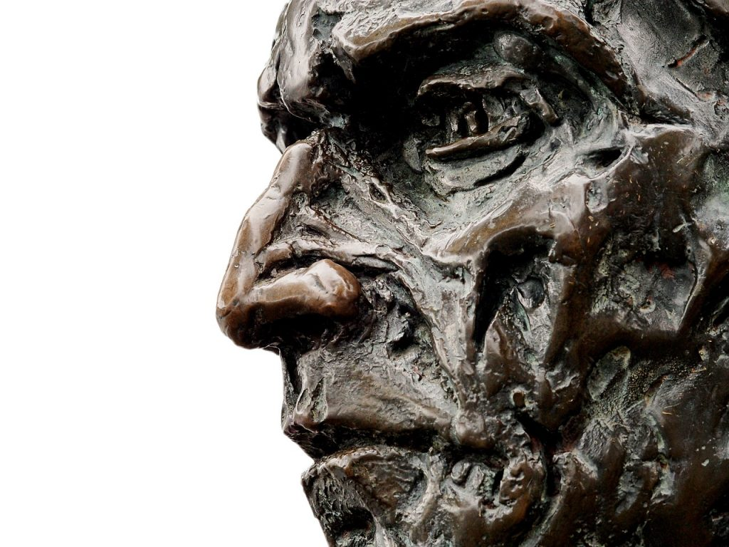 Das Gesicht der Statue von John Cabot in Bristol, Neufundland (pixabay.com)