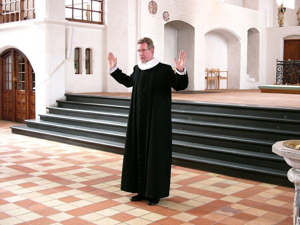 Segen von einem christlichen Pfarrer