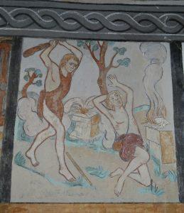 Kain schlägt Abel mit einer Keule tot