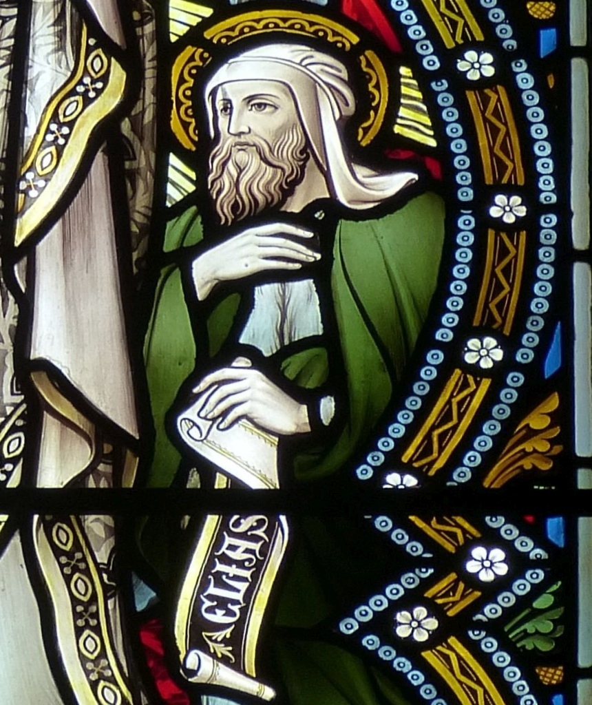 Der Prophet Elia auf einem Kirchenfenster