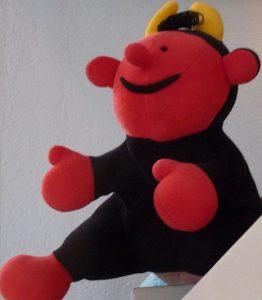 Handpuppe Lutz - der kleine Teufel