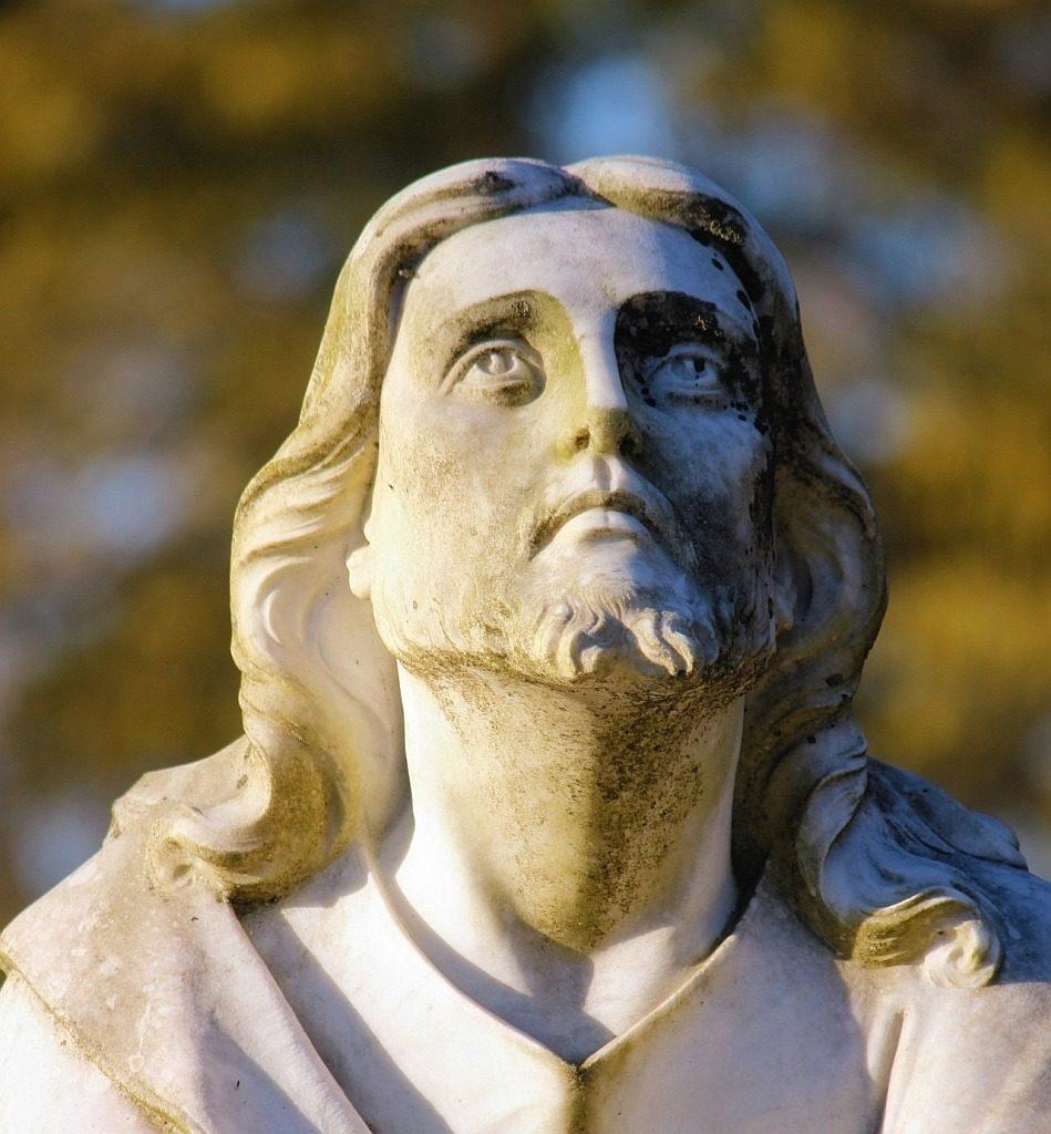 Jesus blickt zum Himmel