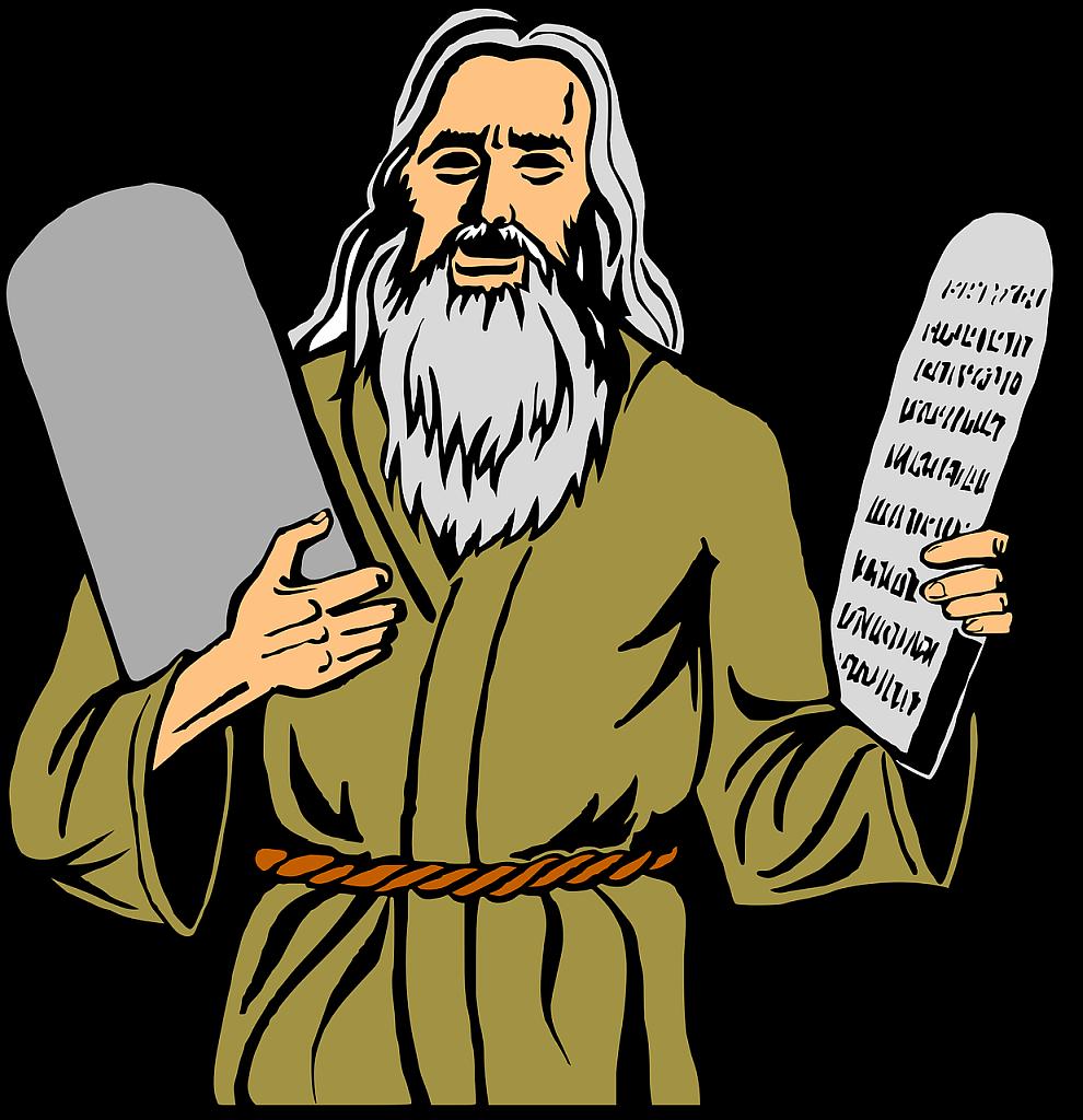 Mose mit den Tafeln der Zehn Gebote