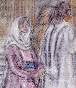 Die Frau berührt Jesu Gewand (Bild: Ingrid Walpert)