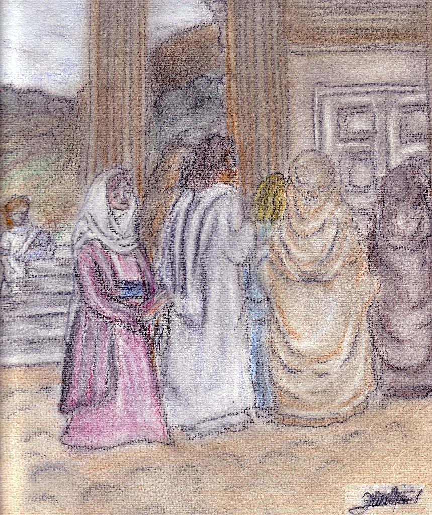 Jesus und die blutflüssige Frau (Bild: Ingrid Walpert)
