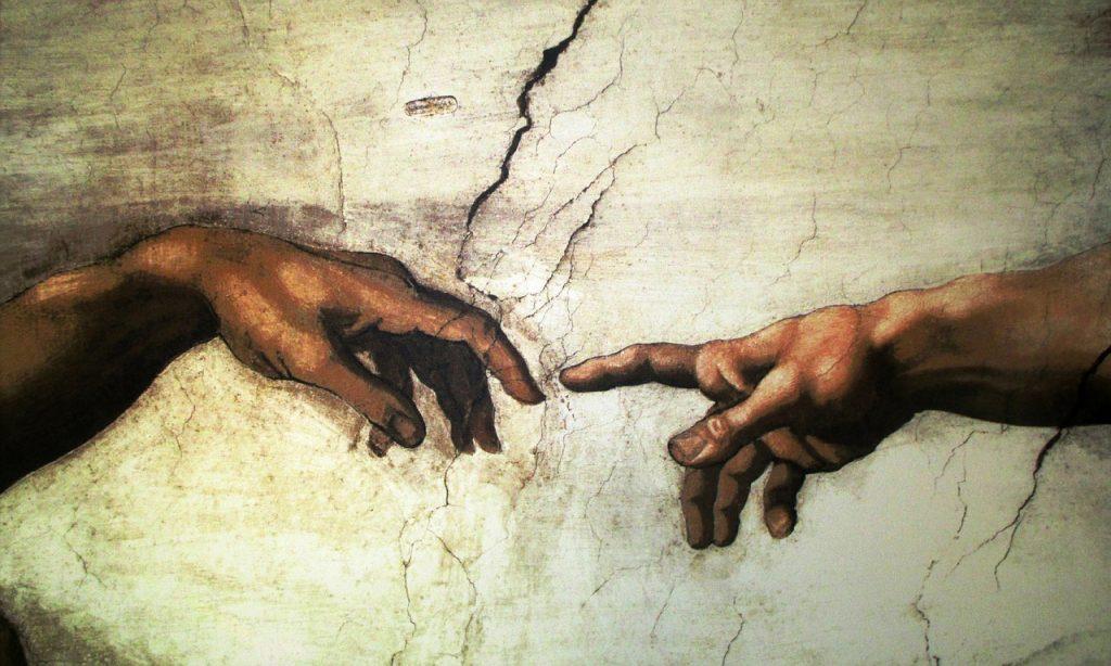 Michelangelo: Gottes und des Menschen Finger