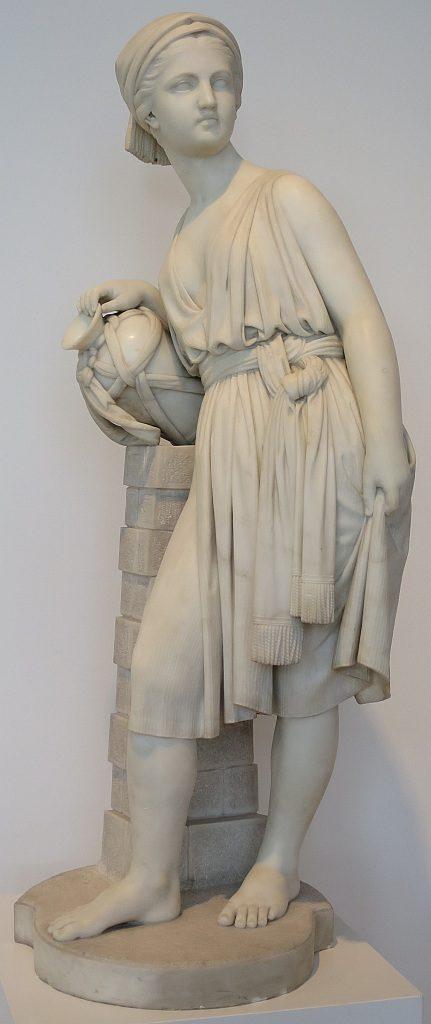 Vollständiges Bild der Skulptur von Rebekka am Brunnen