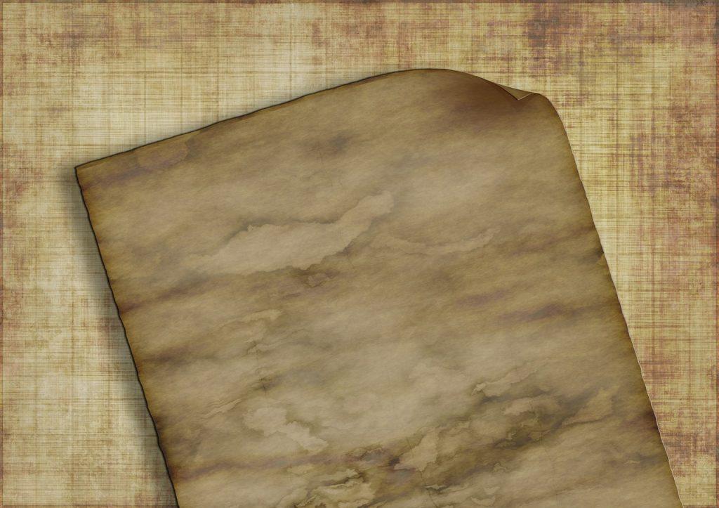 Vergilbtes Pergament