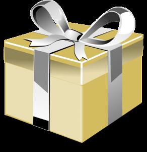 Golden eingepacktes Geschenk