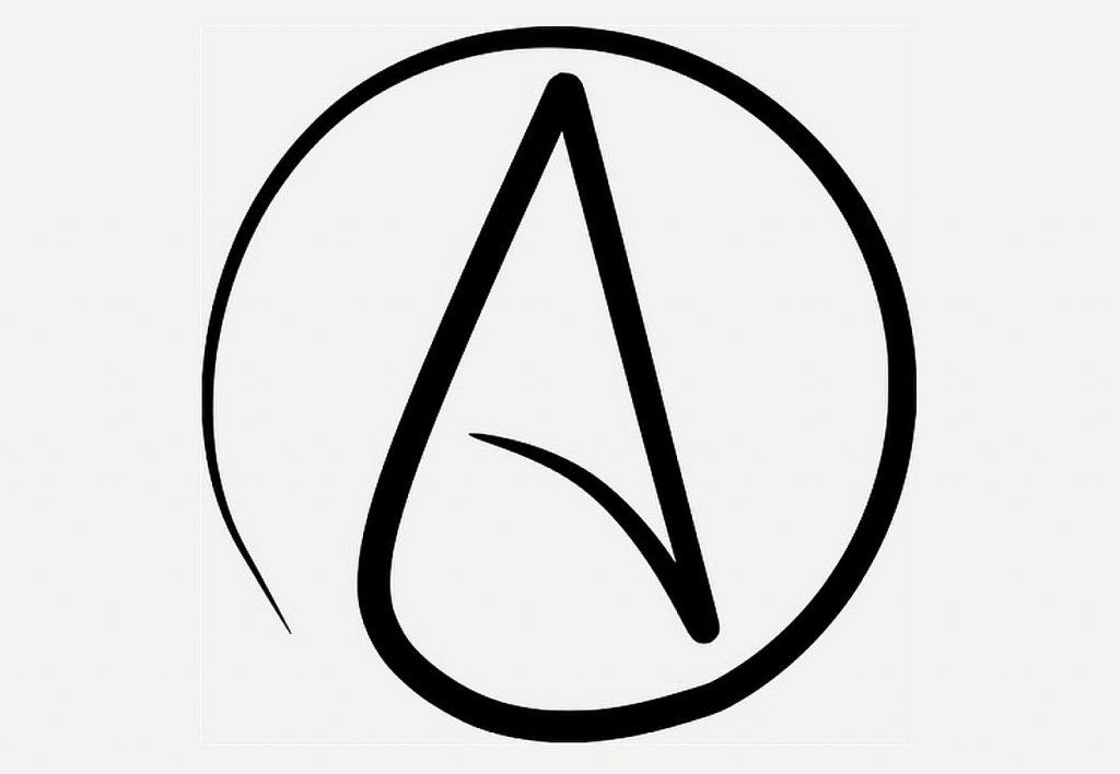 Ob das Symbol der internationalen Atheistenvereinigung auch für das fromme Atheistlein im Kopf von Kurt Marti stehen könnte?