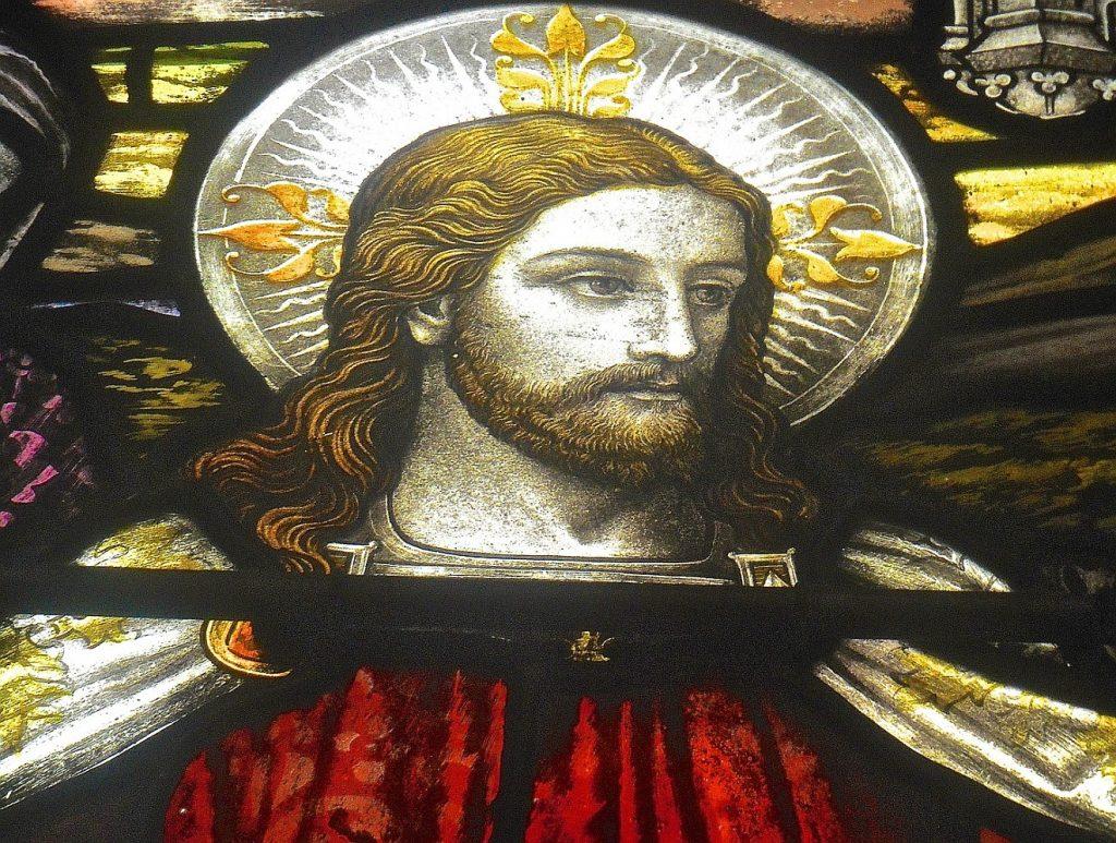 Jesus einmal nicht als Leidender oder Gekreuzigter, sondern mit einem imposanten Heiligenschein