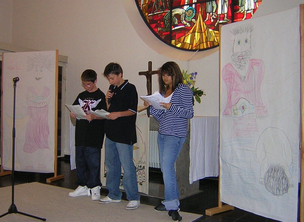 Drei Jünger Johannes des Täufers: Andreas, Simon und Susanna