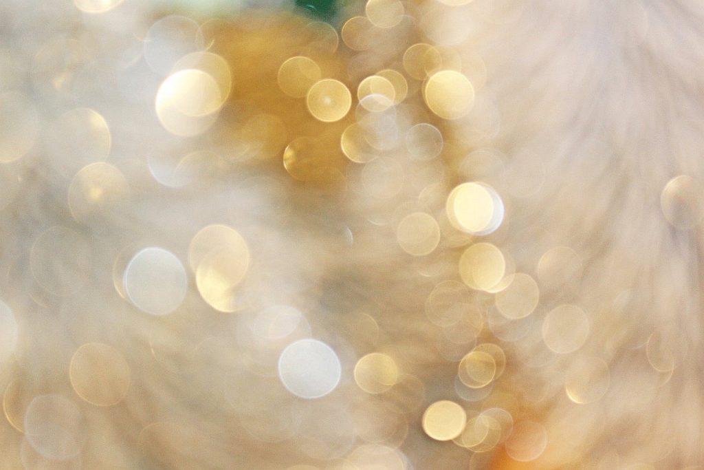 Lichteffekte, verschwommen, glänzend, golden