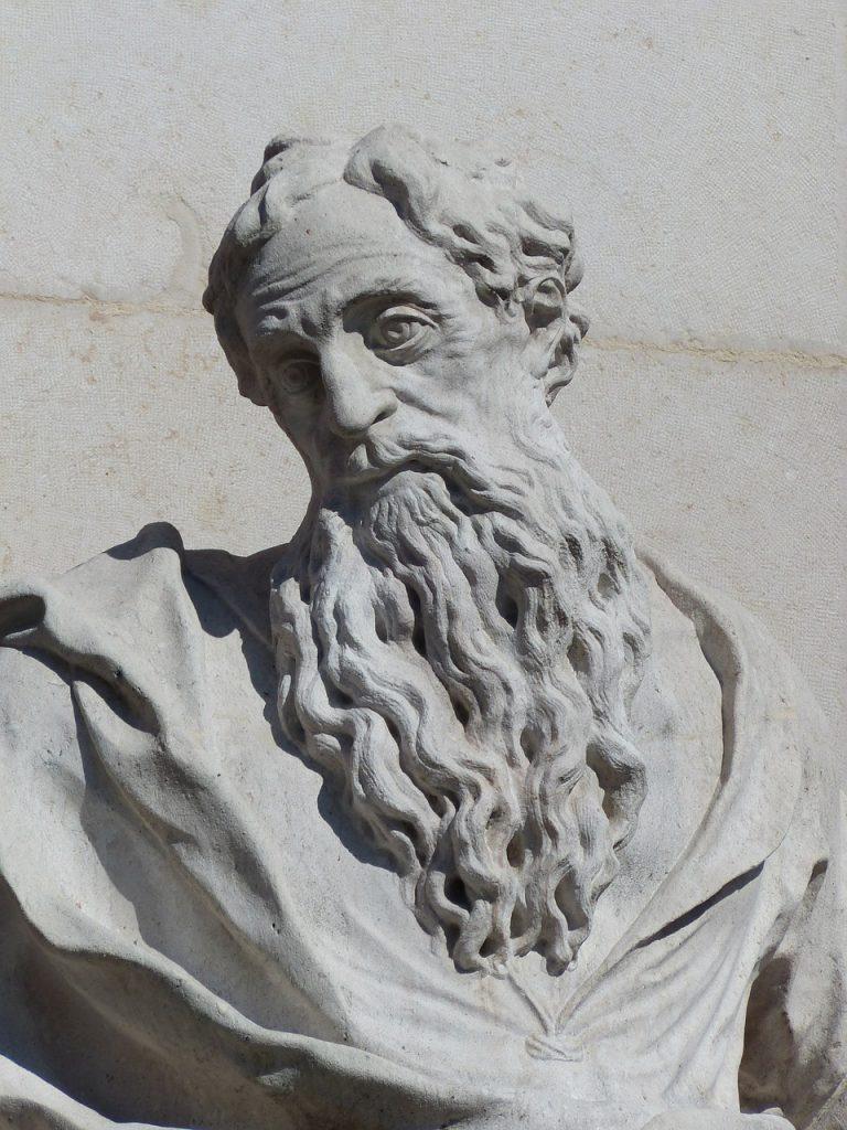 Paulusbüste als Skulptur