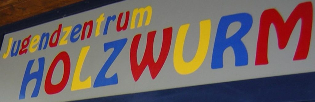 Das Logo des Jugendzentrums Holzwurm