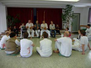Capoeira-Vorführung nach dem Taufgottesdienst am 21. Februar 2010