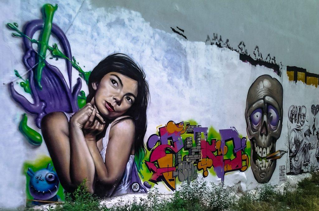 Graffiti in der heutigen Stadt Thessaloniki in Griechenland