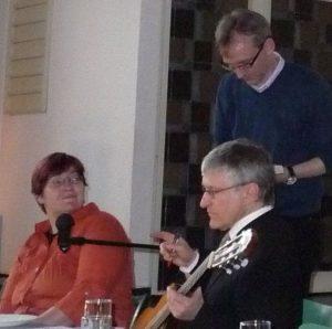 Gaby Engel, Pfarrer Helmut Schütz und Küster Andrzej Czeremuga