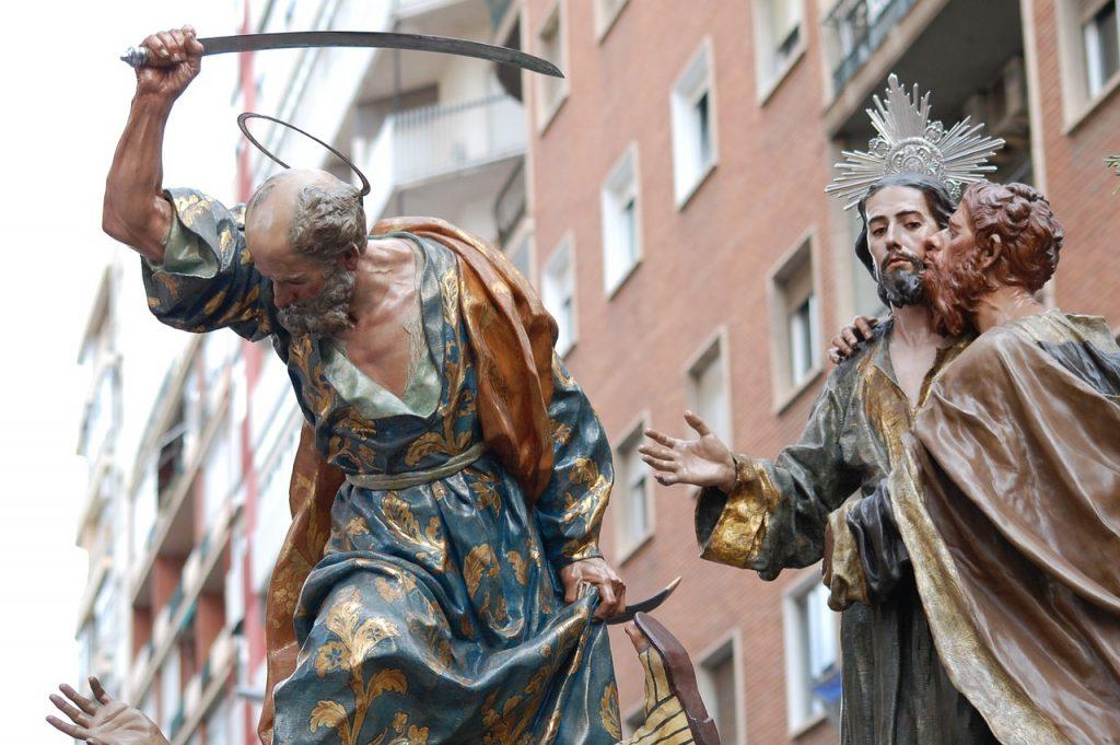 Judaskuss und Petrusschwert