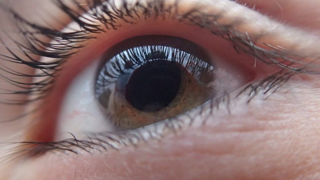 Ein Auge in Großaufnahme