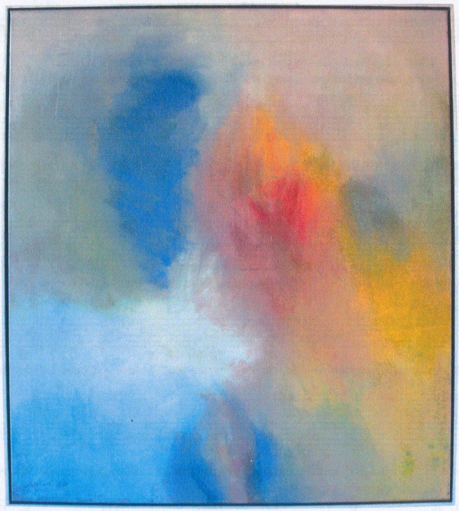 """Ein Bild mit blauen, roten und gelben Tönen: """"Transformation"""""""