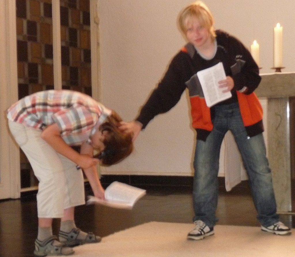 Johannes tauft Andreas