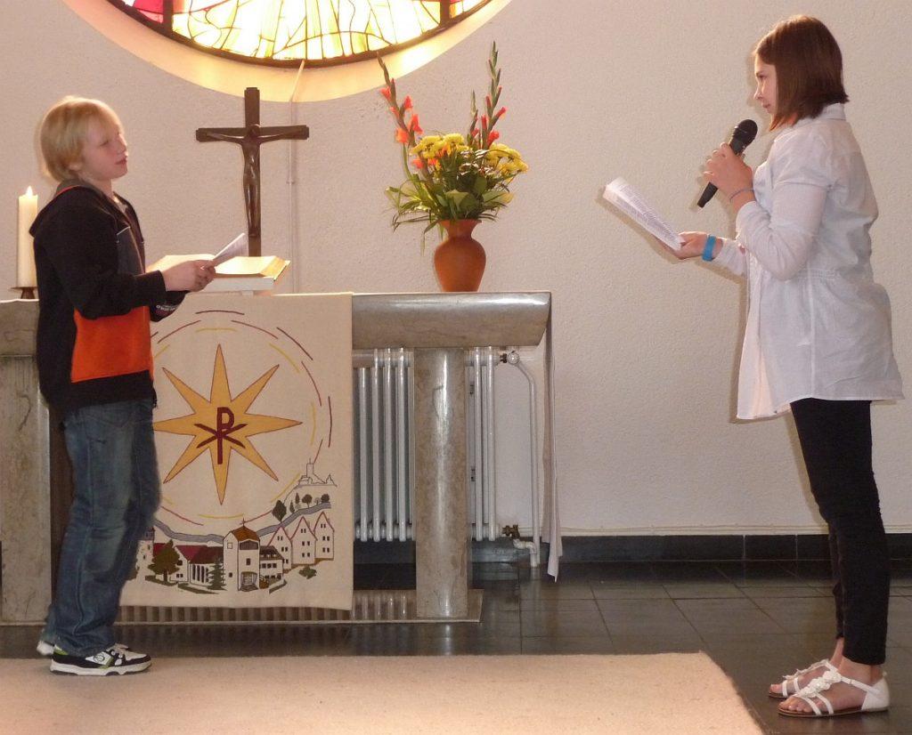 Jesus will sich von Johannes taufen lassen