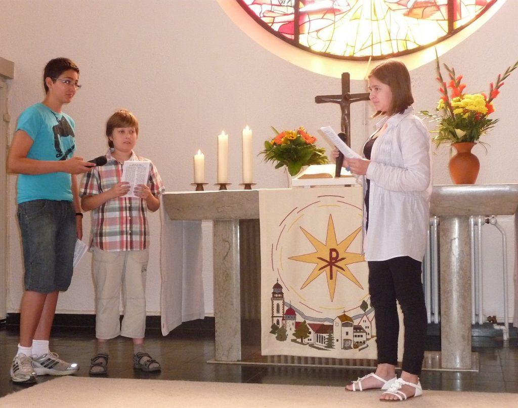 Andreas und Simon berichten Jesus, dass Johannes getötet worden ist
