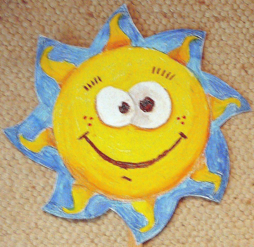 Stabpuppe Sonne