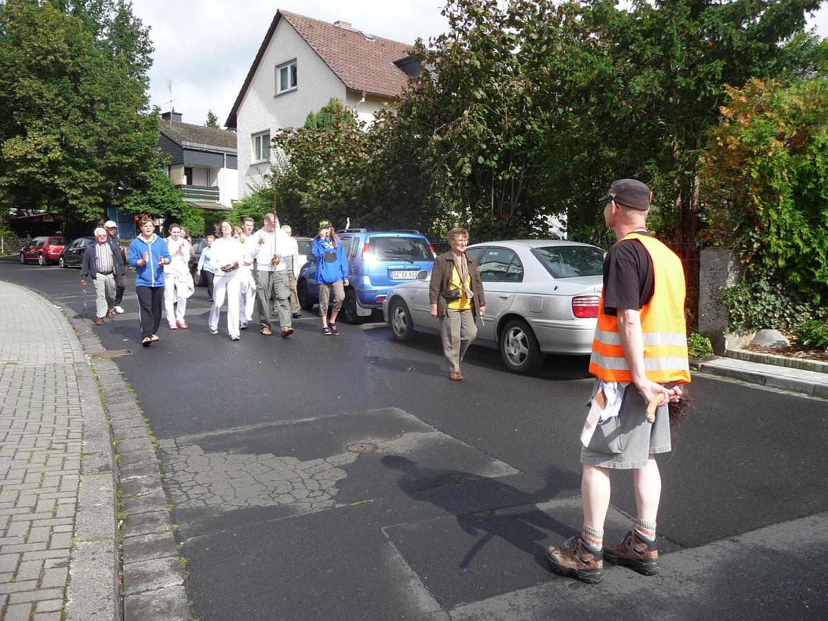 Auf dem Weg zum Quartiers-Anger östlich der Marburger Straße