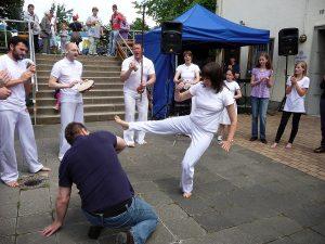Dann gab es eine Capoeira-Darbietung