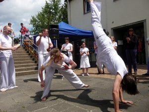 Ein wenig Akrobatik beim Capoeira