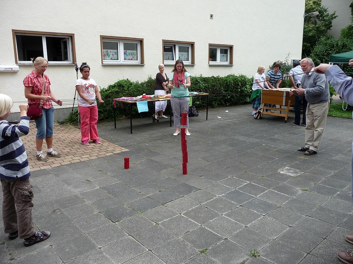Die Jugendwerkstatt steuerte Gruppenspielangebote bei