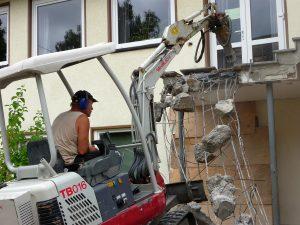 Natürlich war der Abriss der Treppe mit sehr viel Lärm verbunden