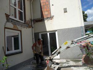 Hier wurden die letzten Reste der Treppe entfernt