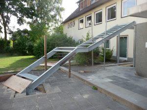 Innerhalb von drei Wochen wurde die neue Treppe fertiggestellt