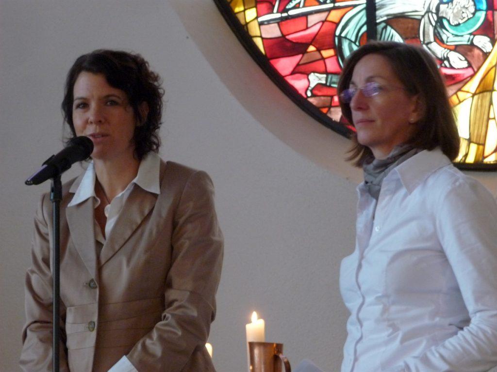 Stefanie Muskau und Silke Rothmann als verantwortliche Architektinnen der Baumaßnahme
